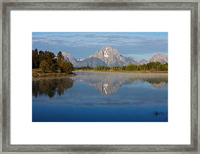 Grand Teton Morning Framed Print by Johan Elzenga