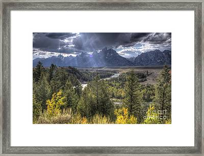 Grand Teton National Park And Snake River Framed Print by Dustin K Ryan