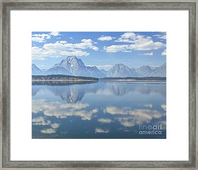 Grand Teton National Park Mountain Lake Reflctions Framed Print by Nature Scapes Fine Art