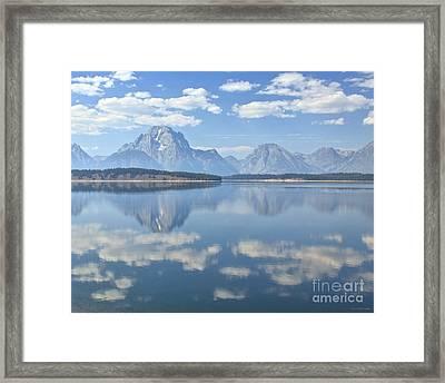 Grand Teton National Park Mountain Lake Reflctions Framed Print