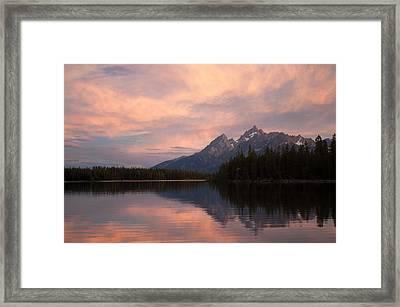 Grand Teton Sunset Framed Print