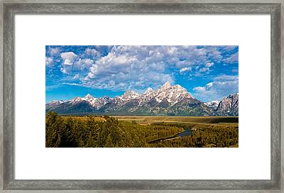 Grand Teton Vista Framed Print