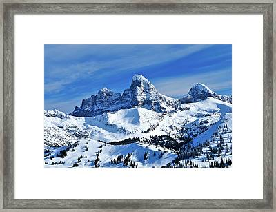 Grand Teton Winter Framed Print