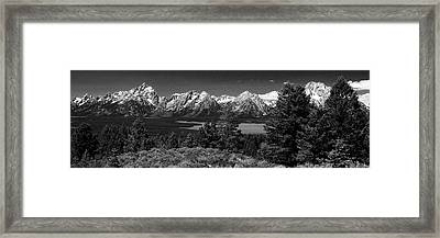 Framed Print featuring the photograph Grand Tetons by Dan Wells