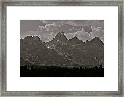 Framed Print featuring the photograph Grand Tetons by Eric Tressler