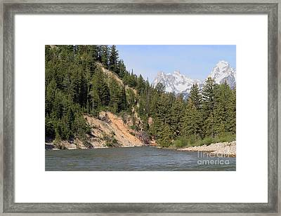 Framed Print featuring the photograph Grand Tetons From Snake River by Living Color Photography Lorraine Lynch