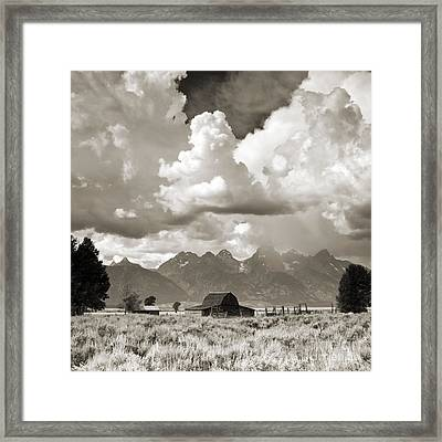 Grand Tetons Jackson Barn Framed Print by Dustin K Ryan