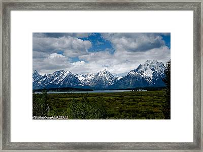 Grand Tetons Framed Print by Lauren MacIntosh