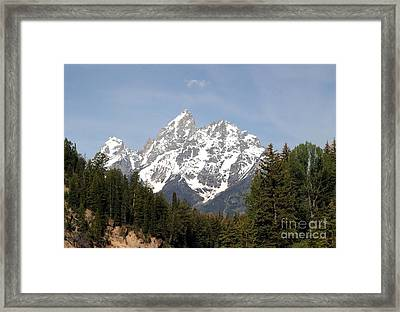 Framed Print featuring the photograph Grand Tetons by Living Color Photography Lorraine Lynch
