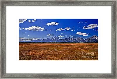 Grand Tetons  Mountains Framed Print by Robert Bales