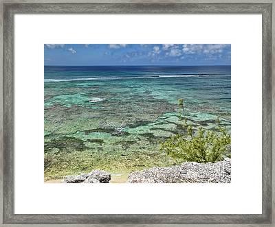 Grand Turk Beach Framed Print by Joan  Minchak