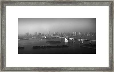 Grand View Of Tokyo Framed Print by Naxart Studio