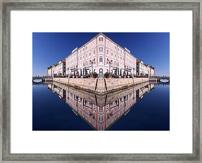 Framed Print featuring the photograph Grande Canal Trieste by Graham Hawcroft pixsellpix