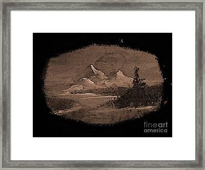 Grandeur Framed Print by Crystal June Norton