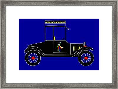 Grandma Duck Fruits Ltd - Virtual Car Framed Print by Asbjorn Lonvig