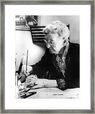Grandma Moses--year Unknown. Csu Framed Print