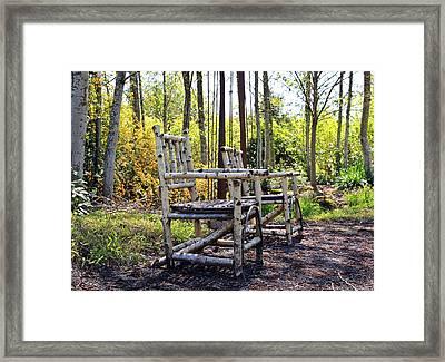 Grandmas Country Chairs Framed Print by Athena Mckinzie