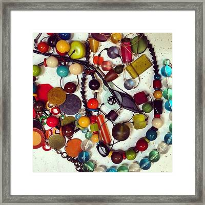 Grandma's Jewels #grandma #fashion Framed Print