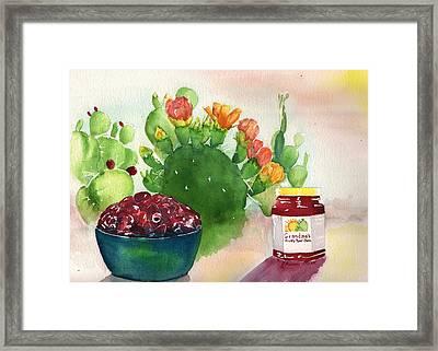 Grandmas Prickly Pear Jam Framed Print