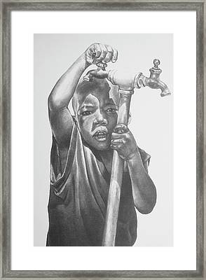 Grandma's Water I Framed Print by Curtis James