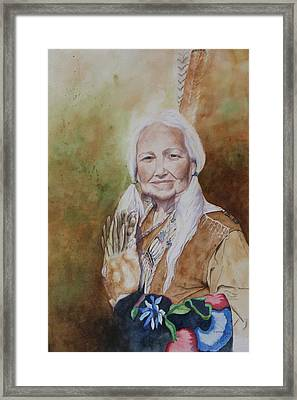 Grandmother Many Horses Framed Print