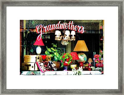 Grandmother's Framed Print by Helen Carson