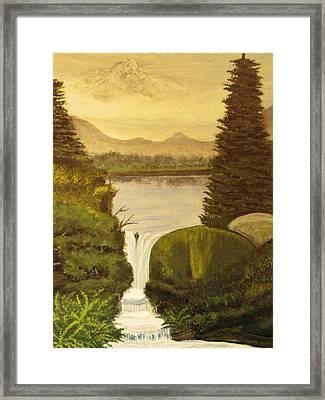 Grandpa Mountain Framed Print by Mitzi Foreman