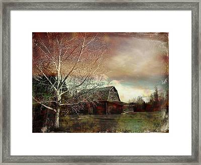 Grandpa's Barn Framed Print by Shirley Sirois