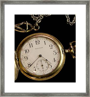 Framed Print featuring the photograph Grandpa's Watch I by Michael Friedman