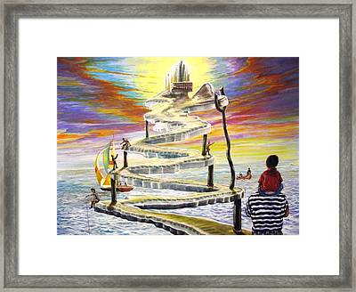 Grandpas Weird Stairway Framed Print by Joe Santana