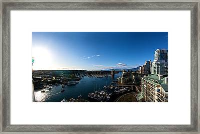 Framed Print featuring the photograph Grandville Island In Yaletown Bc by JM Photography