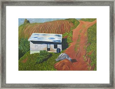 Granja Oaxaquena Framed Print by Kimberly Riggs