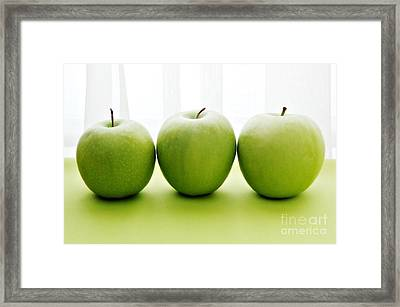 Granny Smith Apples Framed Print by HD Connelly