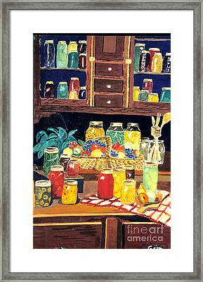Framed Print featuring the painting Granny's Cupboard by Julie Brugh Riffey