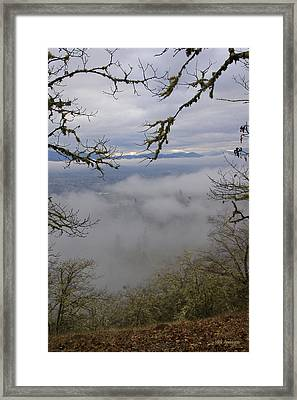 Framed Print featuring the photograph Grants Pass In The Fog by Mick Anderson