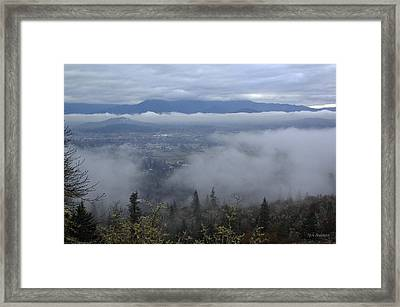 Framed Print featuring the photograph Grants Pass Weather by Mick Anderson