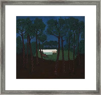 Grant's Woods Framed Print