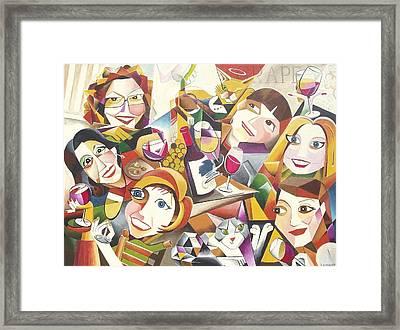 Grape Girls Framed Print