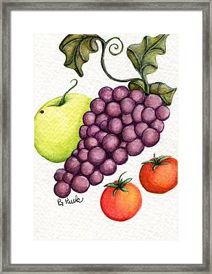 Grape Salad Framed Print by Paula Greenlee