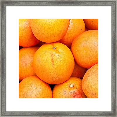 Grapefruit Framed Print by Tom Gowanlock