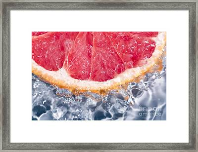 Grapefruit Water  Framed Print by Charlotte Lake