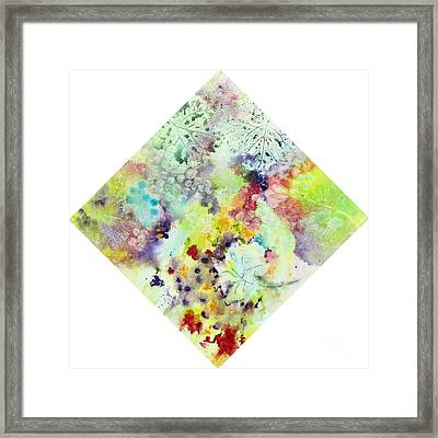 Grapes And Leaves Vii Framed Print by Karen Fleschler
