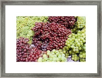 Grapes At A Market Stall Framed Print