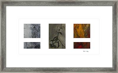 Grapevine Compositional Collage 2 Framed Print by Xoanxo Cespon