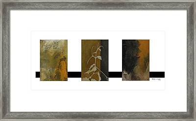 Grapevine Compositional Collage Framed Print by Xoanxo Cespon