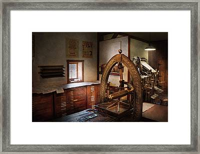 Graphic Artist - Graphic Workshop  Framed Print by Mike Savad
