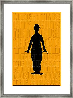 Graphic Chaplin Framed Print by Andrew Fare