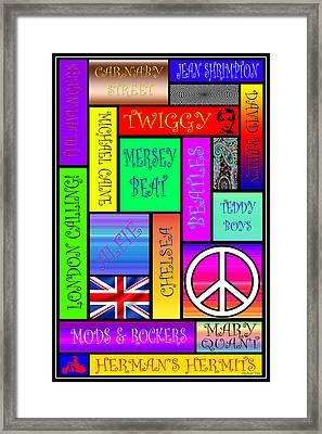Graphic Sixties London Framed Print by Andrew Fare