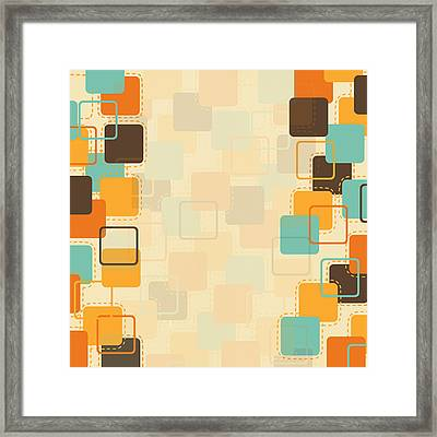 Graphic Square Pattern Framed Print by Setsiri Silapasuwanchai