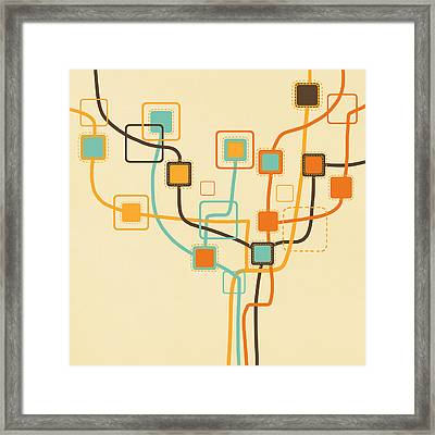 Graphic Tree Pattern Framed Print